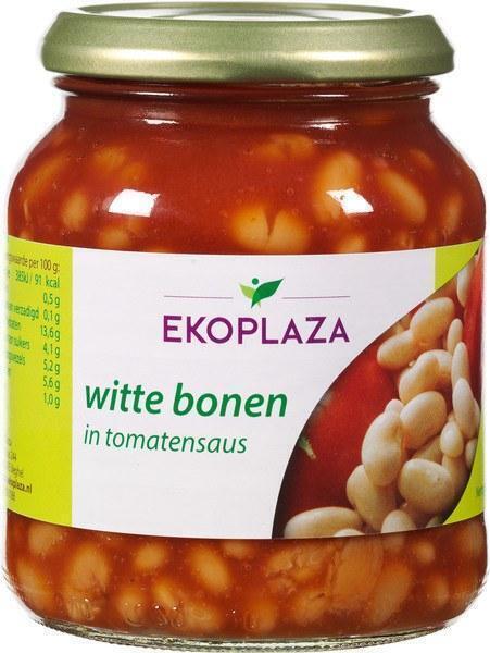 Witte bonen in tomatensaus (pot, 360g)