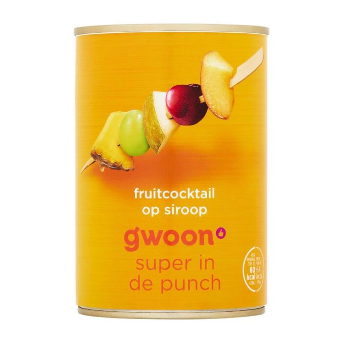 g'woon Fruitcocktail lichte siroop (410g)