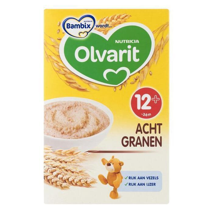 Zonnige ontbijtpap 12mnd acht granen (Stuk, 250g)