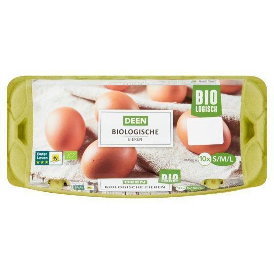 Deen Biologische Eieren 10 Stuks S/M/L