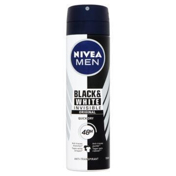 Nivea Men invisible black & white power spray (Stuk, 150ml)