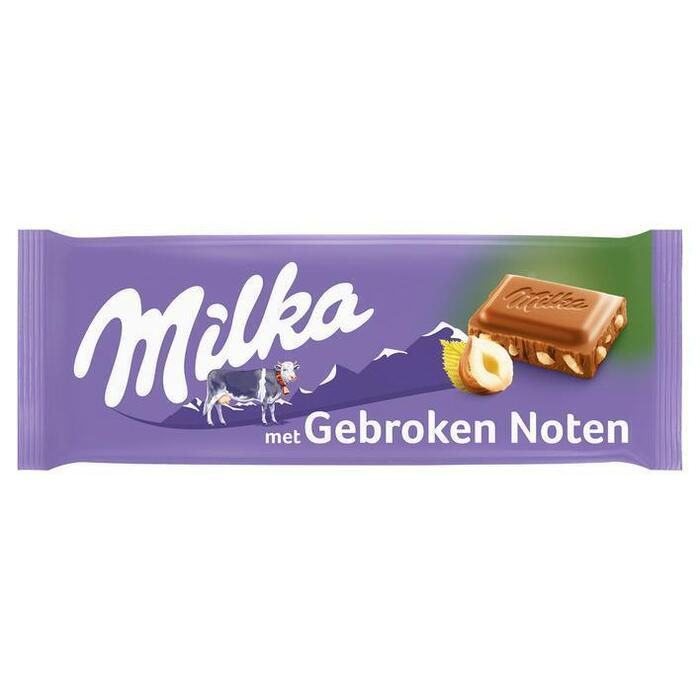 Milka gebroken noten (tablt, 100g)