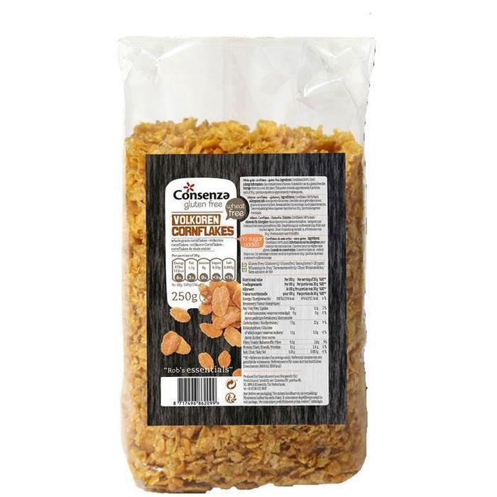 Consenza Volkoren cornflakes (pak, 250g)