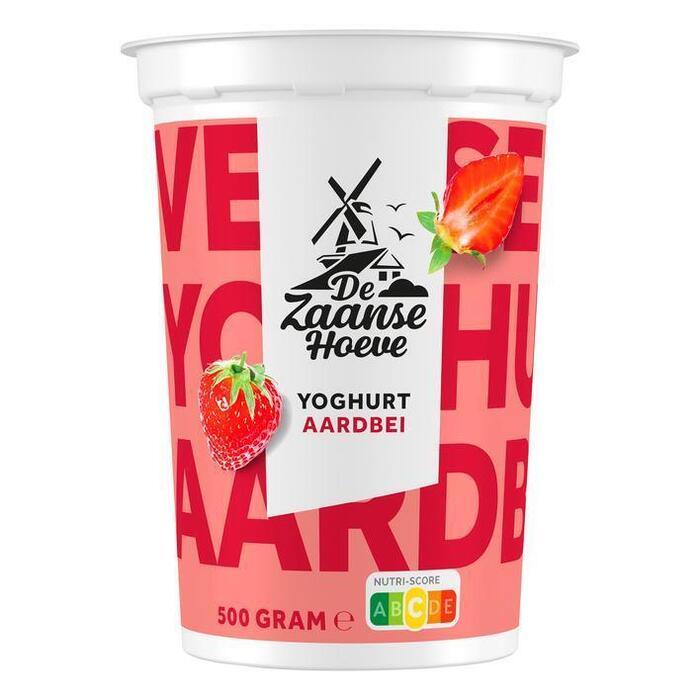 De Zaanse Hoeve Vruchtenyoghurt aardbei (500g)