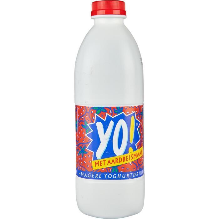 Yo Yoghurtdrink Aardbei 1 kg Fles (0.95L)
