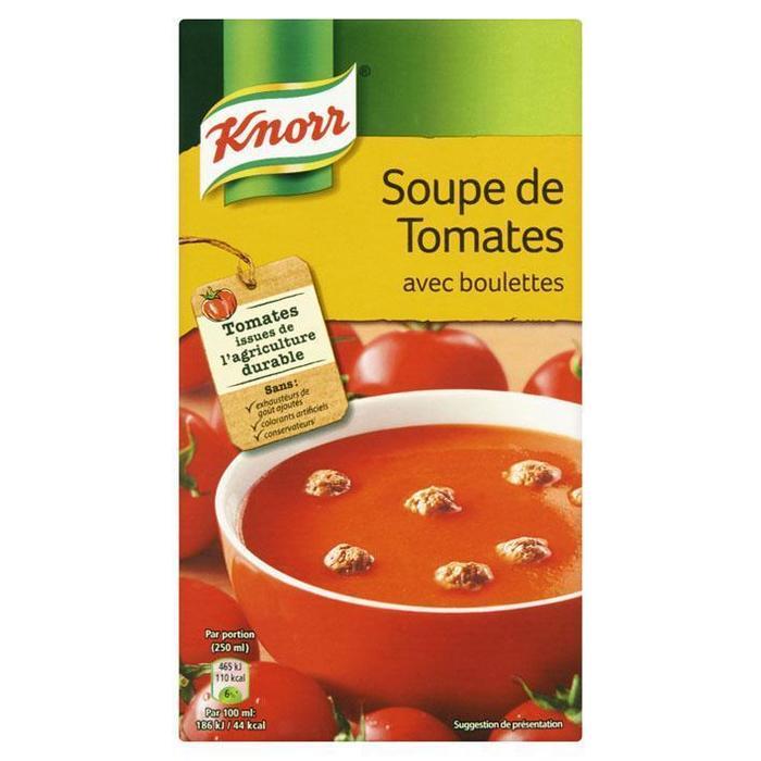 Classics Tetra Soep Tomaten en balletjes (pak, 1L)
