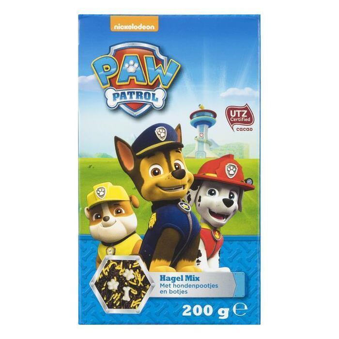Nickelodeon Paw Patrol Hagel Mix met Hondenpootjes en Botjes 200 g (200g)