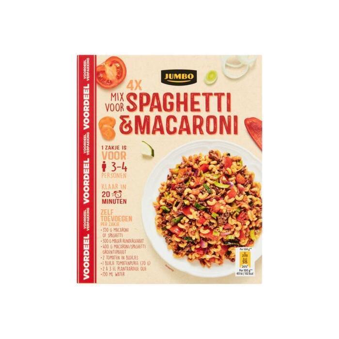 Jumbo Mix voor Spaghetti & Macaroni Voordeelverpakking 4 x 40g (4 × 40g)