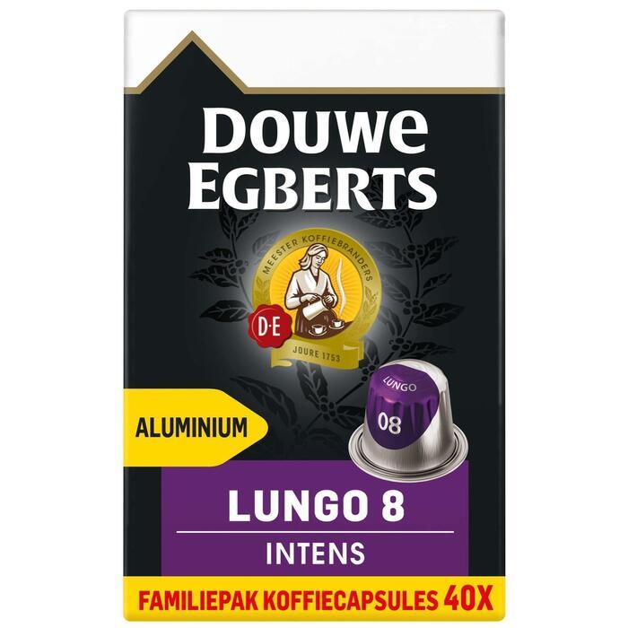 DOUWE EGBERTS KOFFIE CAPSULES LUNGO INTENS UTZ 208G 40ST BOX (40 × 208g)