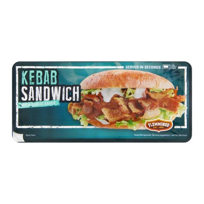 Flemmings Kebab Sandwich 132 gram (132g)