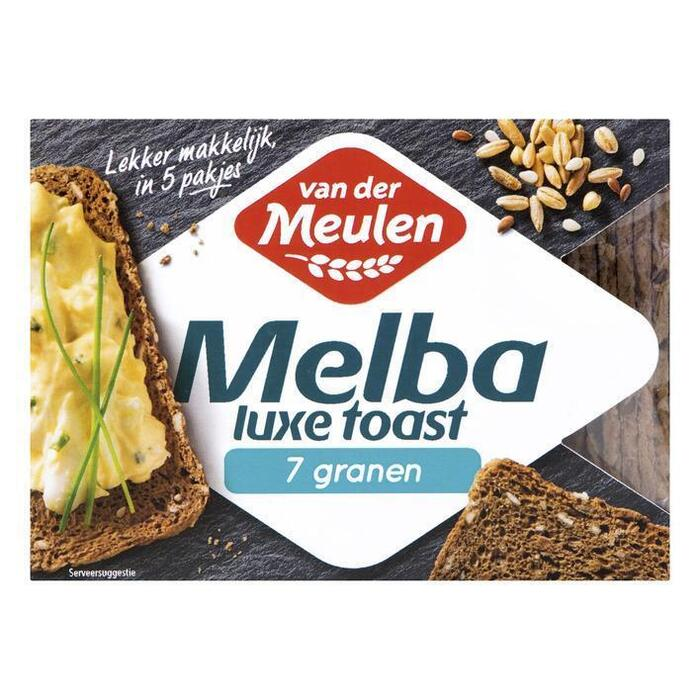Van der Meulen Melba toast luxe 7 granen (100g)