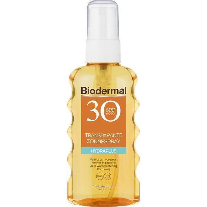 Biodermal Transparante zonnespray spf 30 175ml (175ml)