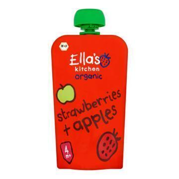 Ella's Kitchen Organic Strawberries + Apples 4+ Maanden 120 g (120g)