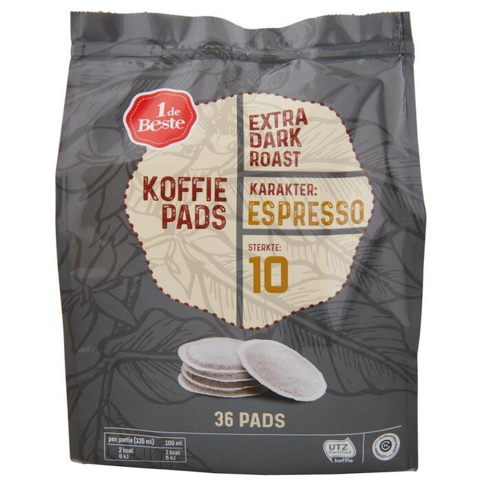 Koffiepads extra dark roast