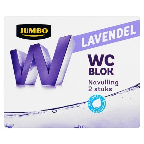 Jumbo WC Blok Lavendel Navulling 2 x 40g (2 × 40g)