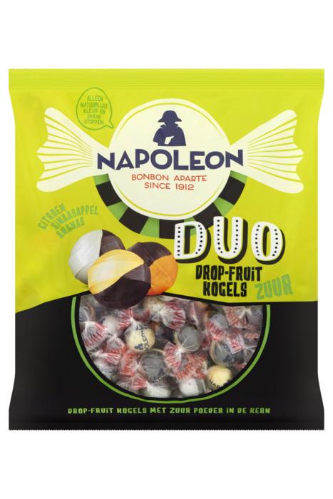 NAPOLEON DUO DROP-FRUIT KOGELS ZUUR 825 GRAM (825g)