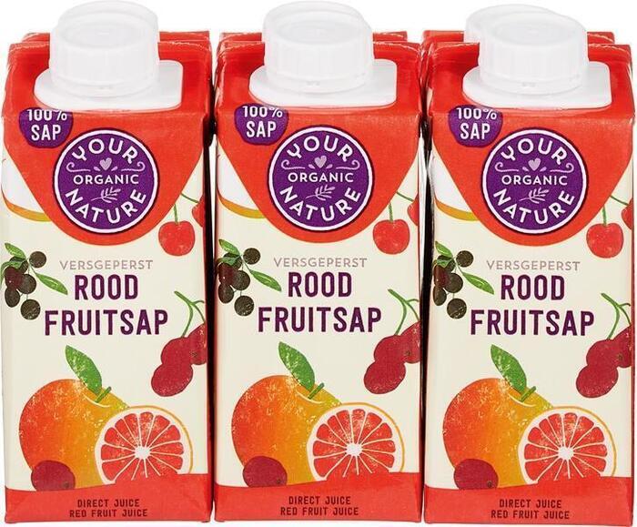 Rood fruitsap 6 x 200 ml (1.2L)