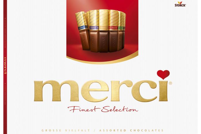 merci Finest Selection assorti Chocoladeproducten / bon bons / bit 675 g doos (54 × 12.5g)