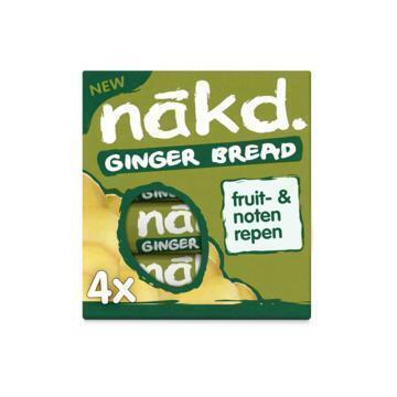 Nakd fruit- & notenreep Ginger Bread 4 x 35 gram Doos (4 × 35g)