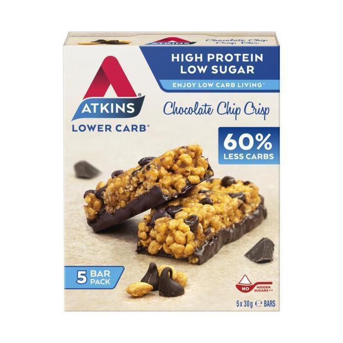 Atkins Chocolate Chip Crisp Multi Pack 5 x 30g (150g)