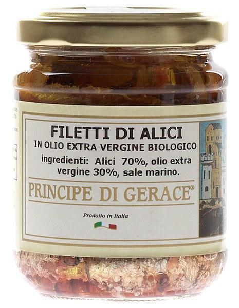 Filets van ansjovis in biologische olijfolie (pot, 200g)