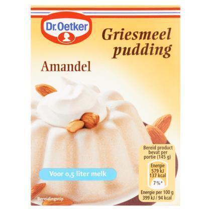 Griespudding Amandel (Stuk, 85g)