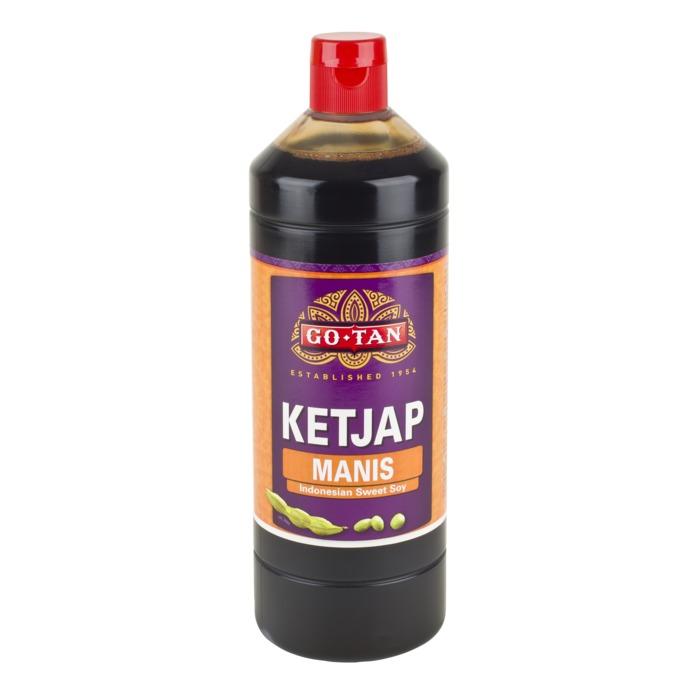 Go-Tan Ketjap Manis 1000 MLT fles (fles, 1L)