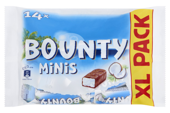 Bounty Minis XL Pack 14 Stuks 443 g (Stuk, 14 × 31.6g)