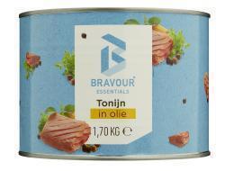 Tonijnstukken in olie (1.7kg)