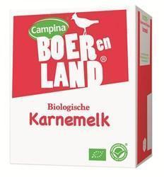 Campina Boer en Land karnemelk biologisch 10 lt bag-in-box (10L)