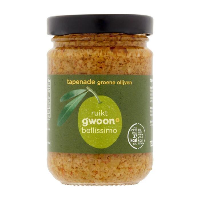 g'woon Tapenade groene olijven (130g)