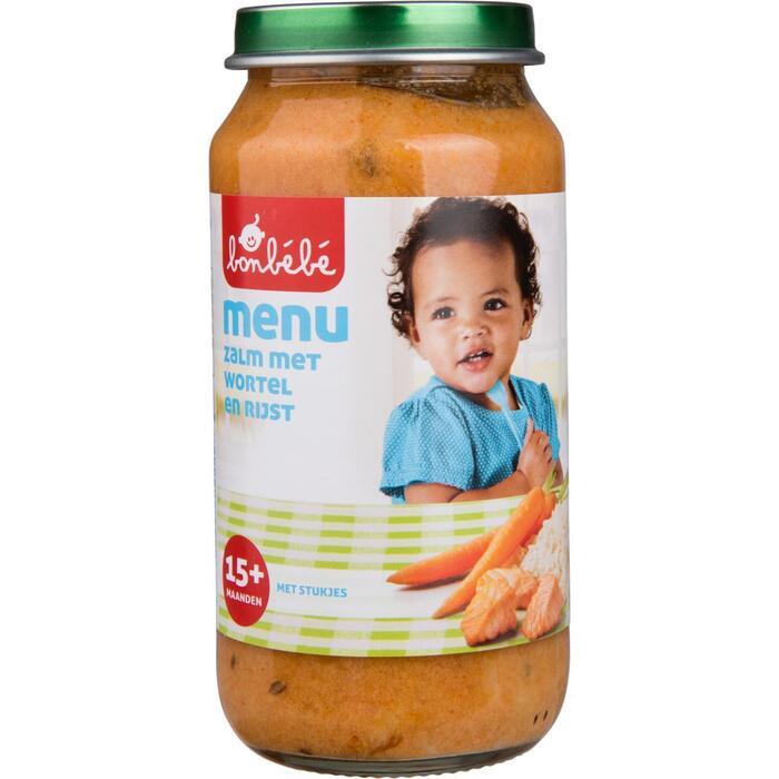 Bonbébé Zalm met wortel en rijst 15+ maanden (250g)