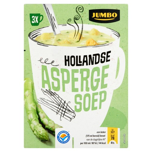 Jumbo Hollandse Aspergesoep 3 Zakjes 49, 8g (49.8g)