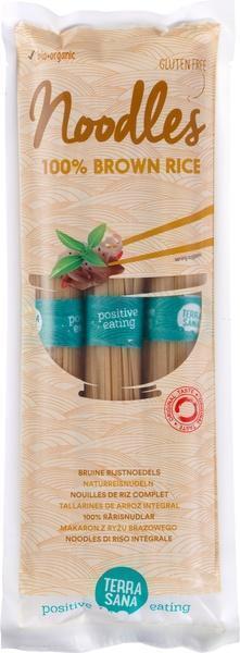 100% Bruine rijstnoedels glutenvrij TerraSana 250g (250g)
