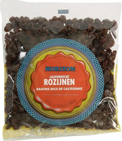 Biologische Rozijnen (zak, 250g)