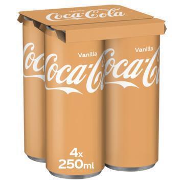 Coca-Cola Vanilla (rol, 4 × 250ml)