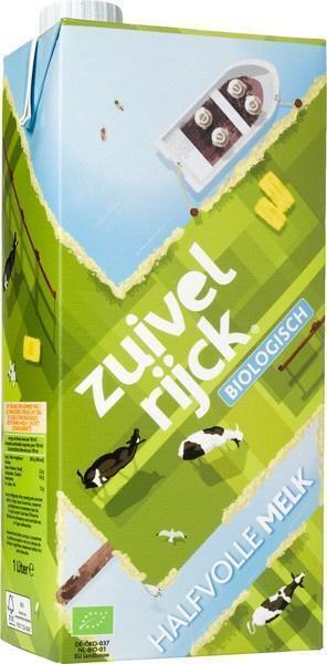Halfvolle melk bio (pak, 1L)