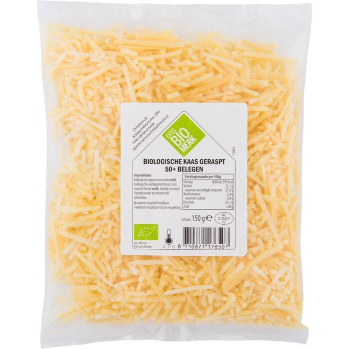 Raspte kaas biologisch belegen (150g)