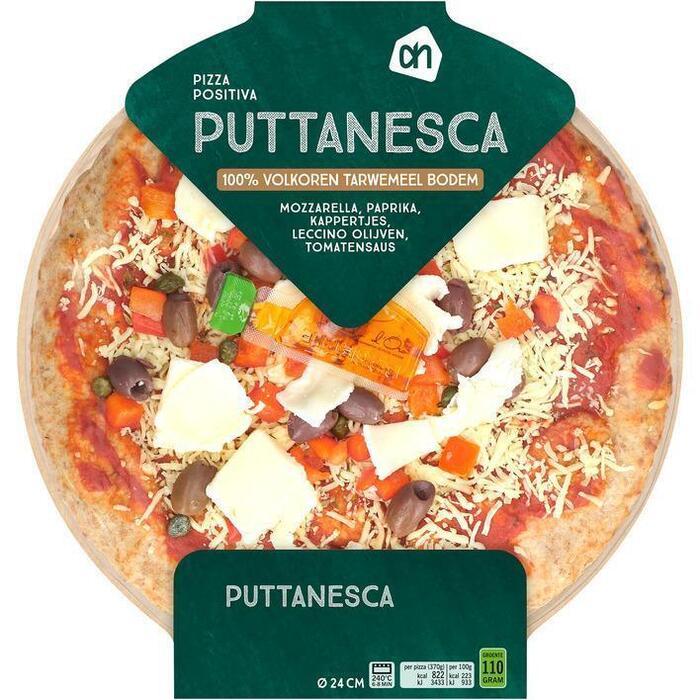 AH Pizza volkoren puttanesca (370g)