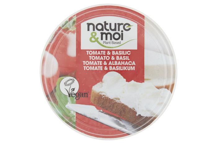Nature & Moi Veganistische Specialiteit Tomato & Basil 150 g Beker/kuipje (150g)