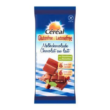 Céréal Glutenfree & Lactosefree Melkchocolade met Hazelnoot 100g (Stuk, 100g)
