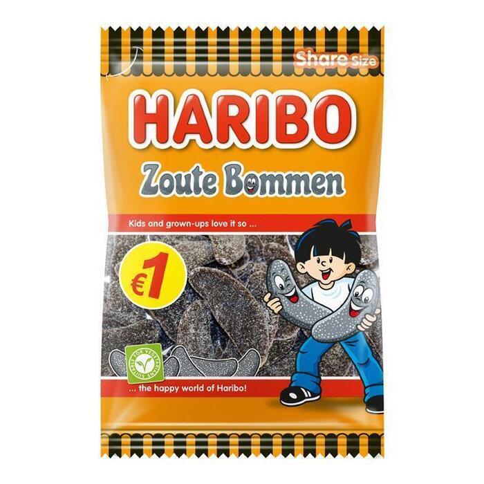 Haribo Zoute bommen (180g)