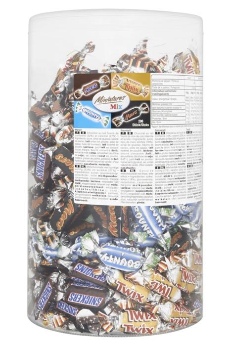 Mixed MINIATURES Chocoladedragees 3000 GRM Koker