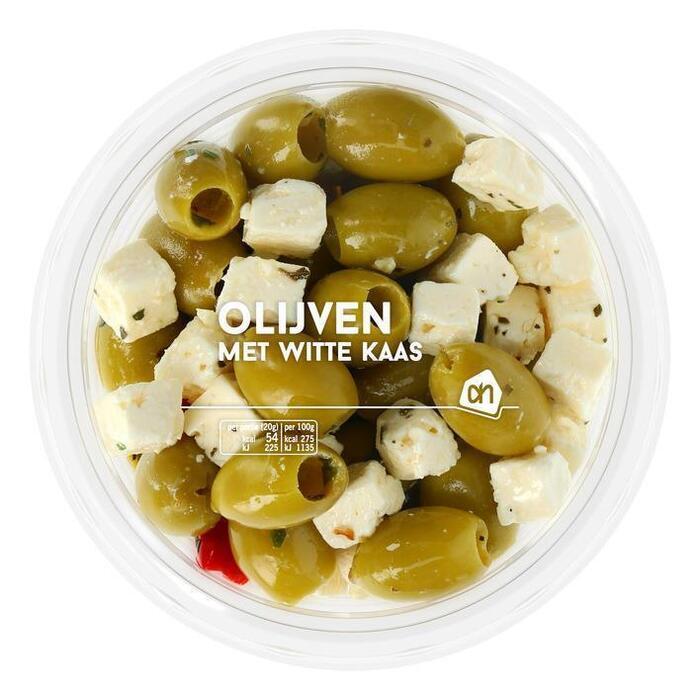 Groene olijven met witte kaas (165g)