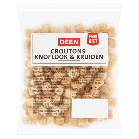Deen Croutons Knoflook & Kruiden 30 g (30g)