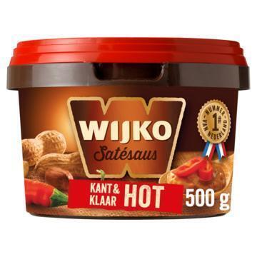 Satesaus kant&klaar hot (emmer, 500g)