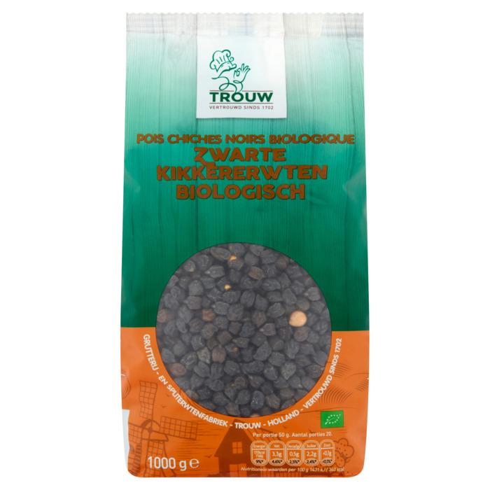 Trouw Zwarte Kikkererwten Biologisch 1000 g (500g)