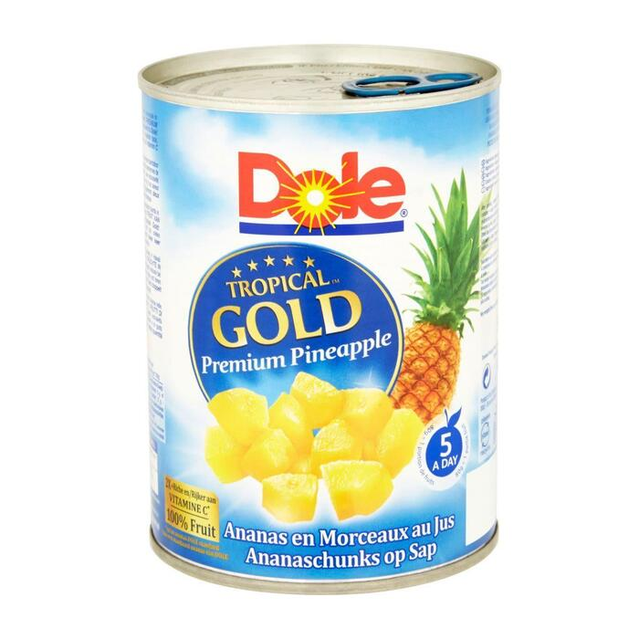 Dole Tropical Gold Ananaschunks op Sap 567 g (567g)