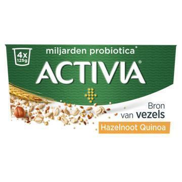 Activia Granen hazelnoot-quinoa (4 × 125g)