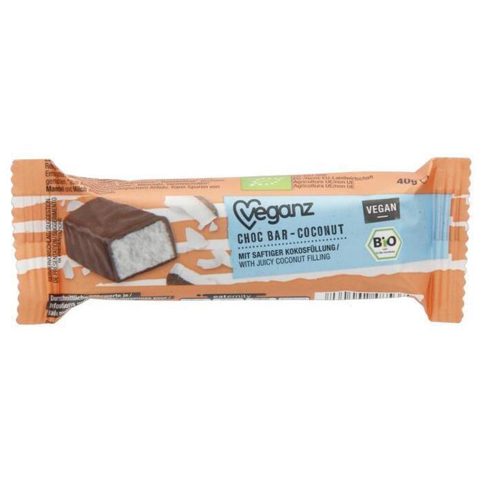 Veganz Bio choc bar coconut (40g)